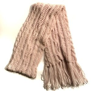 Light Pink Knit Scarf